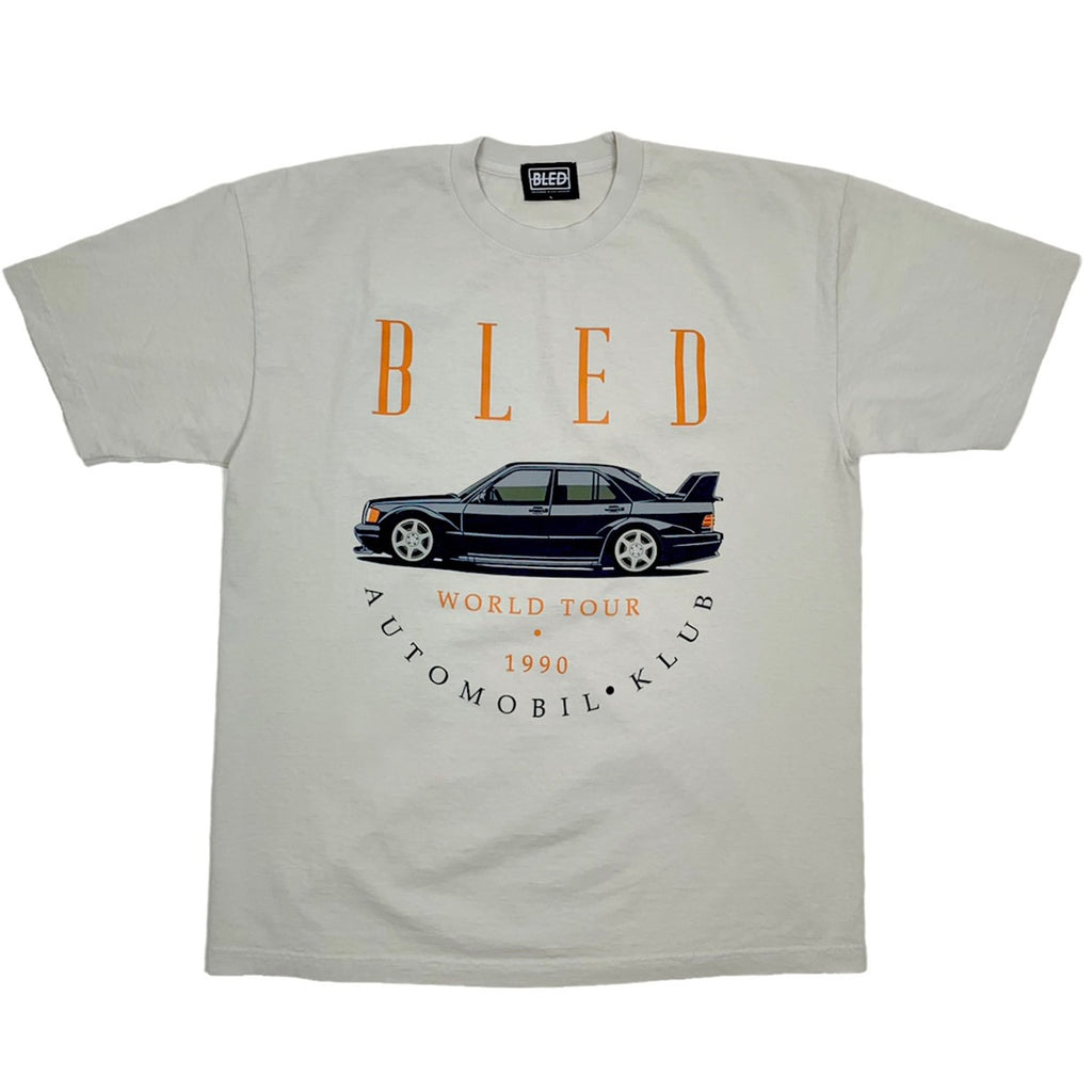 bled t-shirt los angeles europe automobil klub garment dyed vintage e30 m3 190e evolution tee mens shirt hypebeast mercedes benz