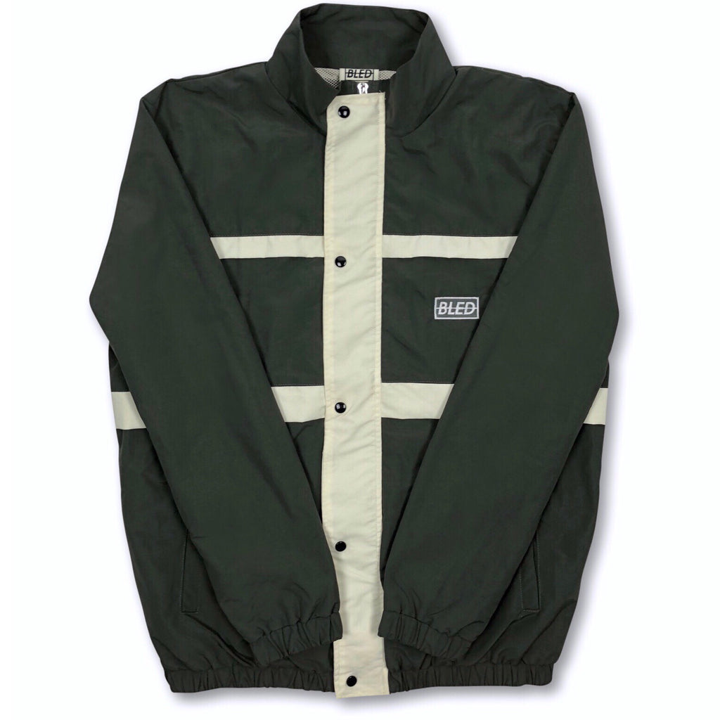Bled Bledwear Stealth Hooded Tracksuit Windbreaker Track Jacket Olive Green Beige Cream Streetwear Street Fashion Hypebeast
