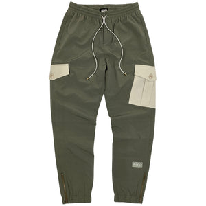 BLED-Clothing-Cargo Pant- Track Pant-Olive Green- Los Angeles-BLED LA-Trousers-Nylon Pant