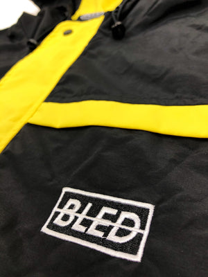 Bled Bledwear Stealth Hooded Tracksuit Windbreaker Track Jacket Black Yellow Streetwear Street Fashion Hypebeast