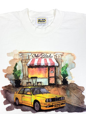 Bled-Bmw-M3-E30-E90-Watercolor Shirt-Cafe-Europe Shirt-Bmw Shirt-E30 Shirt