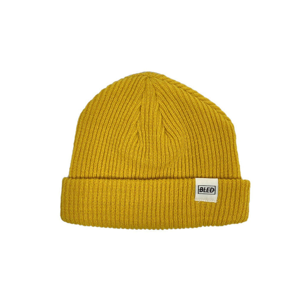 bled bledwear fisherman beanie gold mustard yellow streetwear hypebeast accessories mens headwear