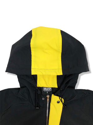 Bledwear Bled Stealth Hooded Track Jacket - Black/Yellow
