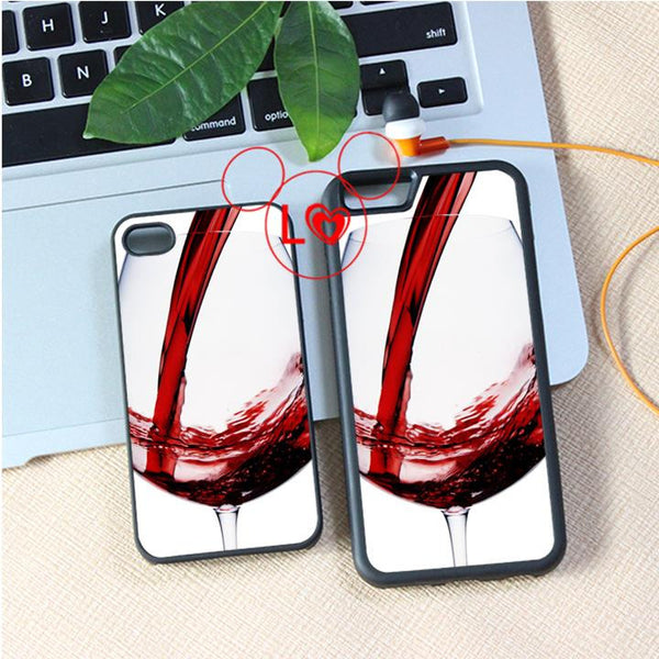 wine glass (4) fashion cover case for iphone 4 4s 5 5s 5c SE 6 6s 6 plus 6S plus 7 7plus #A4647