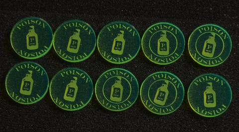 Malifaux Poison Tokens