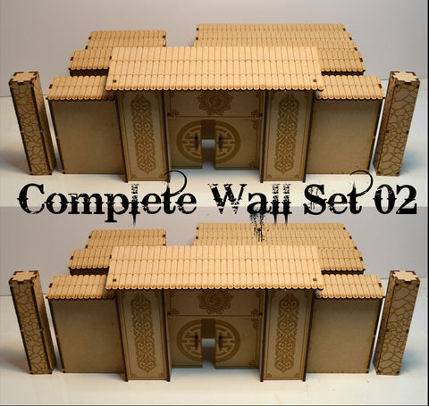 Asian Compound Wall Complete Set 02