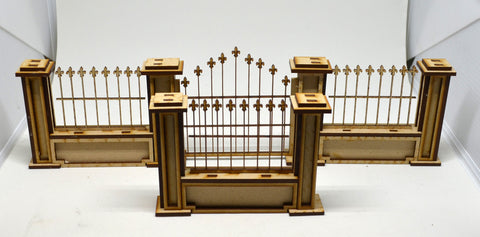 Pitchford Gothic Fence Set (1 gate, 7 single sections)