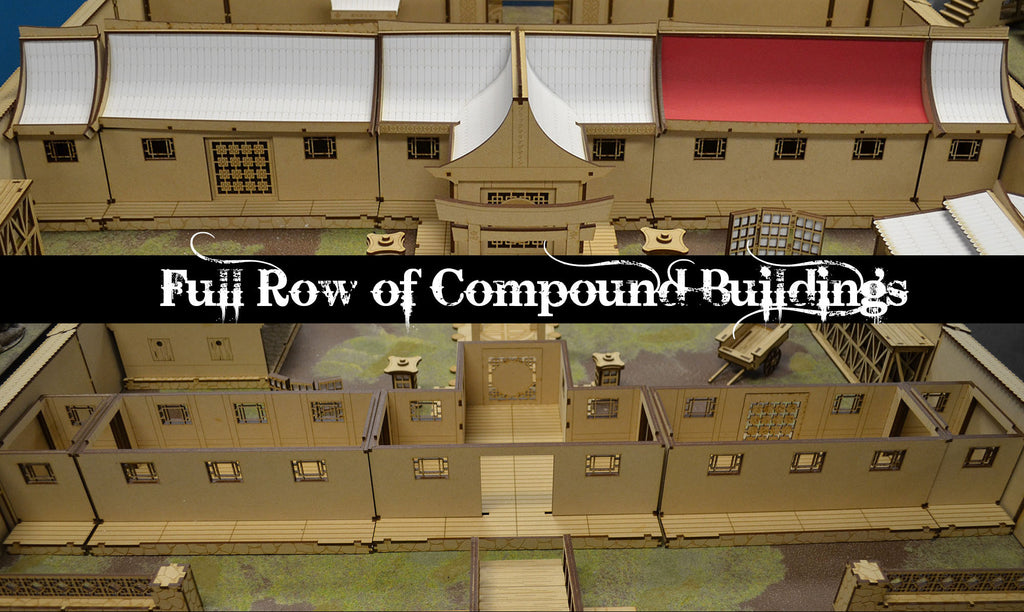 Asian Compound Building Full Row Set