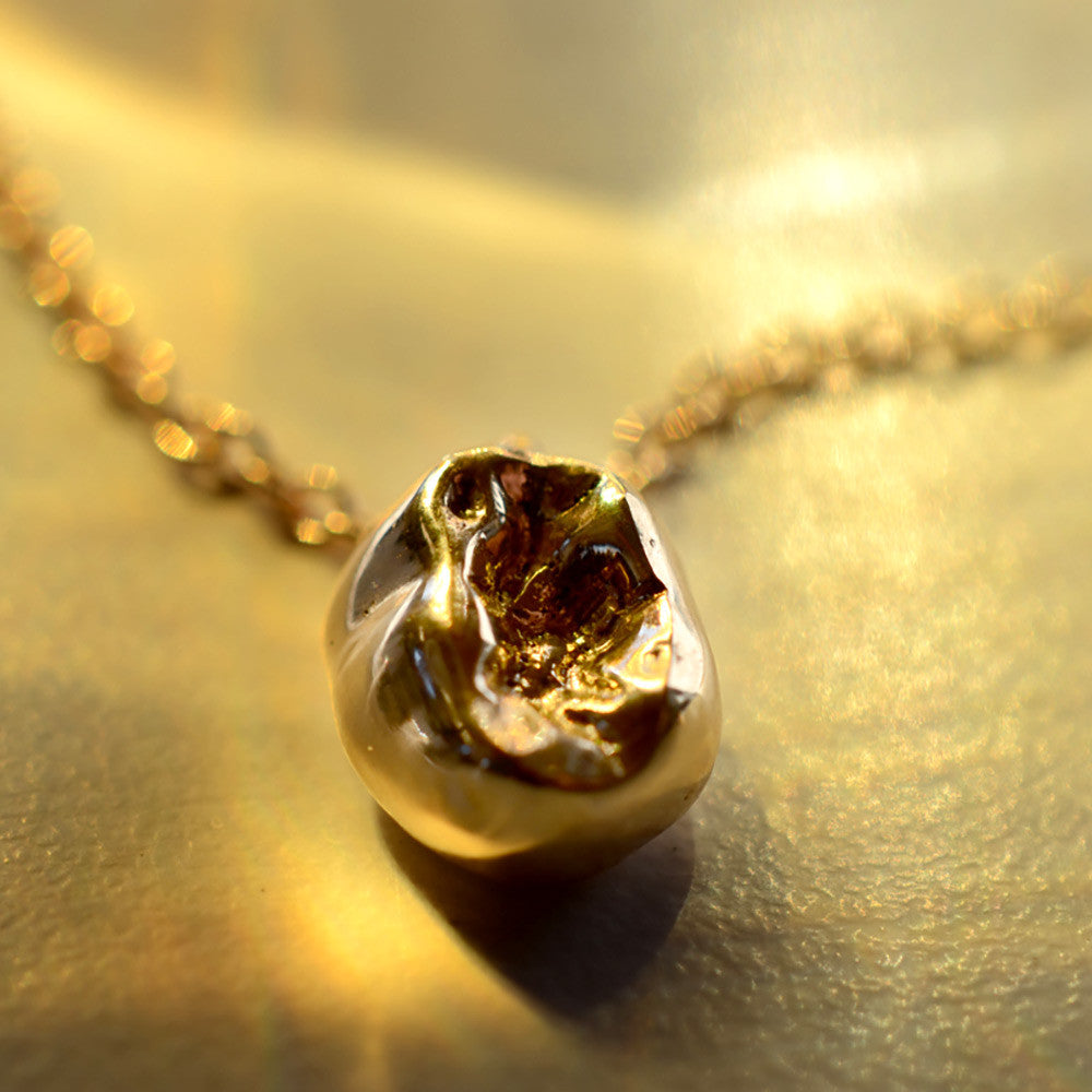 Solid Gold Baby Molar with Necklace