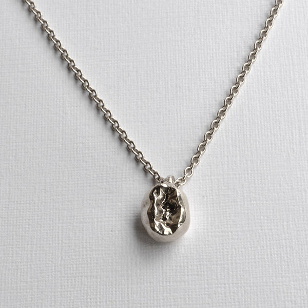 Stirling Silver Baby Molar with Necklace