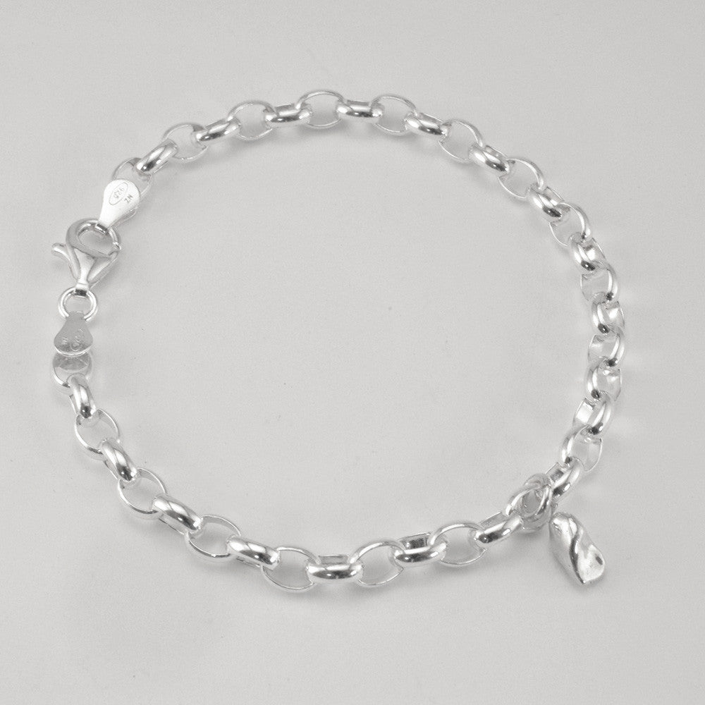 Stirling Silver Charm Bracelet with Incisor