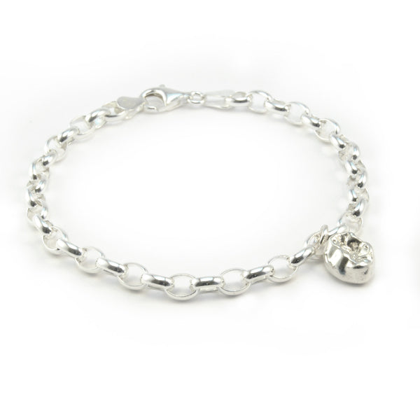 Stirling Silver Charm Bracelet with Molar