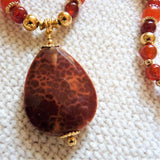 Agate Pendant & South American Topaz Necklace