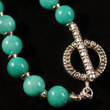 Tree of Life Pendant and Teal Mountain Jade Necklace and Earring Set