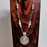 Rose Quartz and Sterling Pendant Chain Necklace