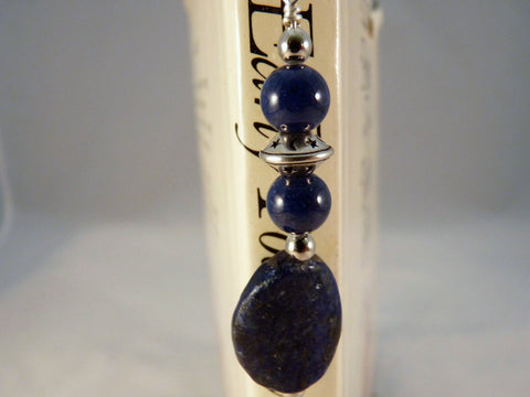 Lapis Lazuli and Silver Plated Shepherd's Hook Bookmark