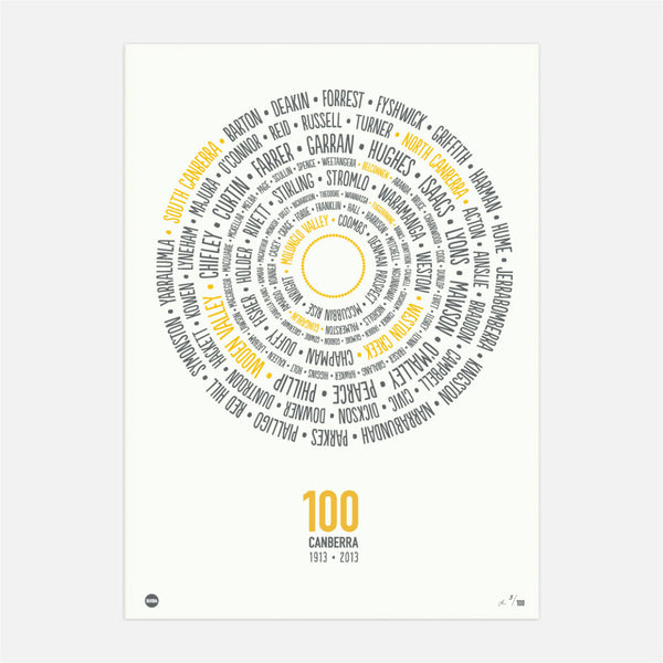 Canberra 100 Districts Print