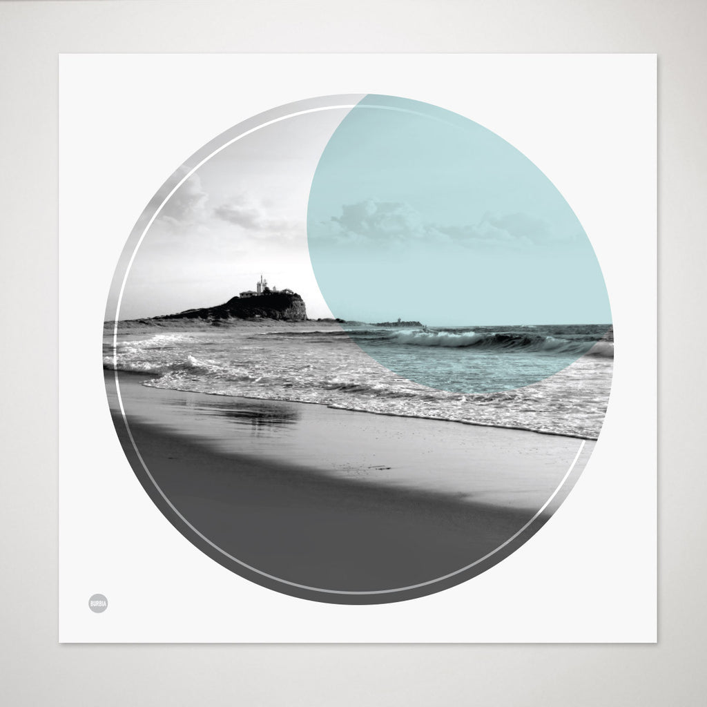 Nobbys Beach Circle Print