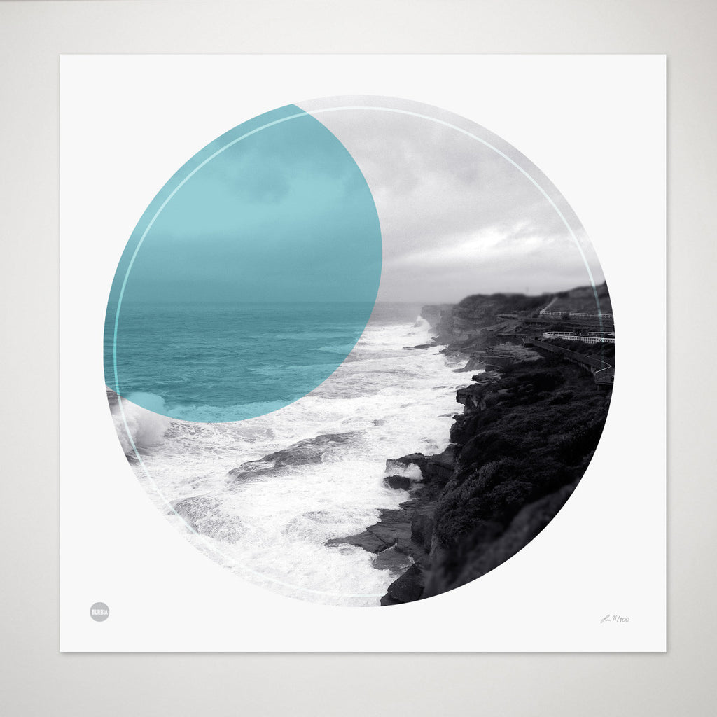 Clovelly Coastal Walk Circle Print