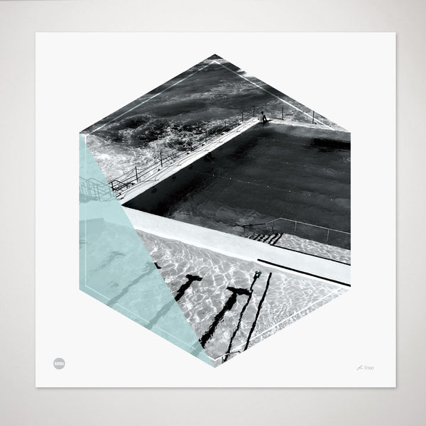 Burbia Bondi Icebergs Ltd Edition Circle Print