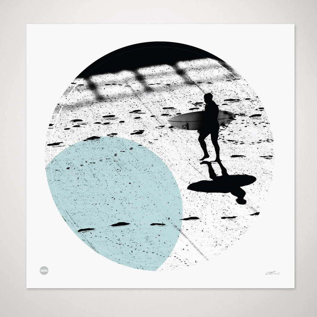 Lines in the Sand Circle Print