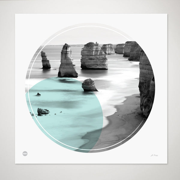 Burbia Great Ocean Road Circle Limited Edition Print