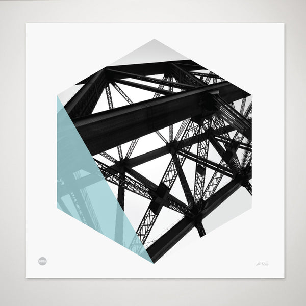 Burbia Harbour Bridge Limited Edition Skyline Print