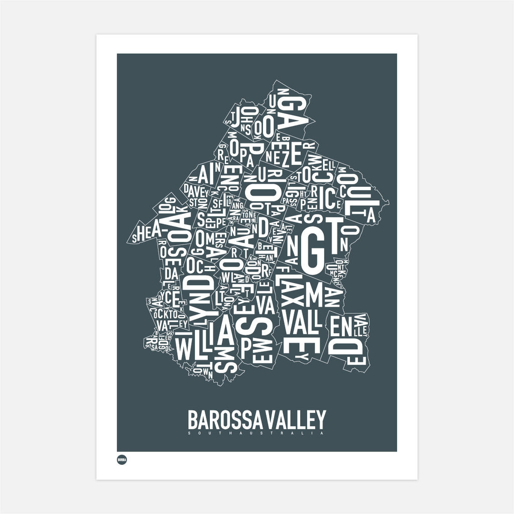 Burbia Barossa Valley Type Map