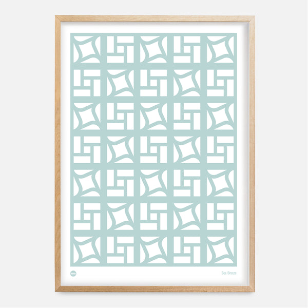 Sea Breeze Block Print