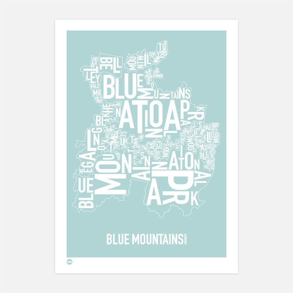 Burbia Blue Mountains Type Print