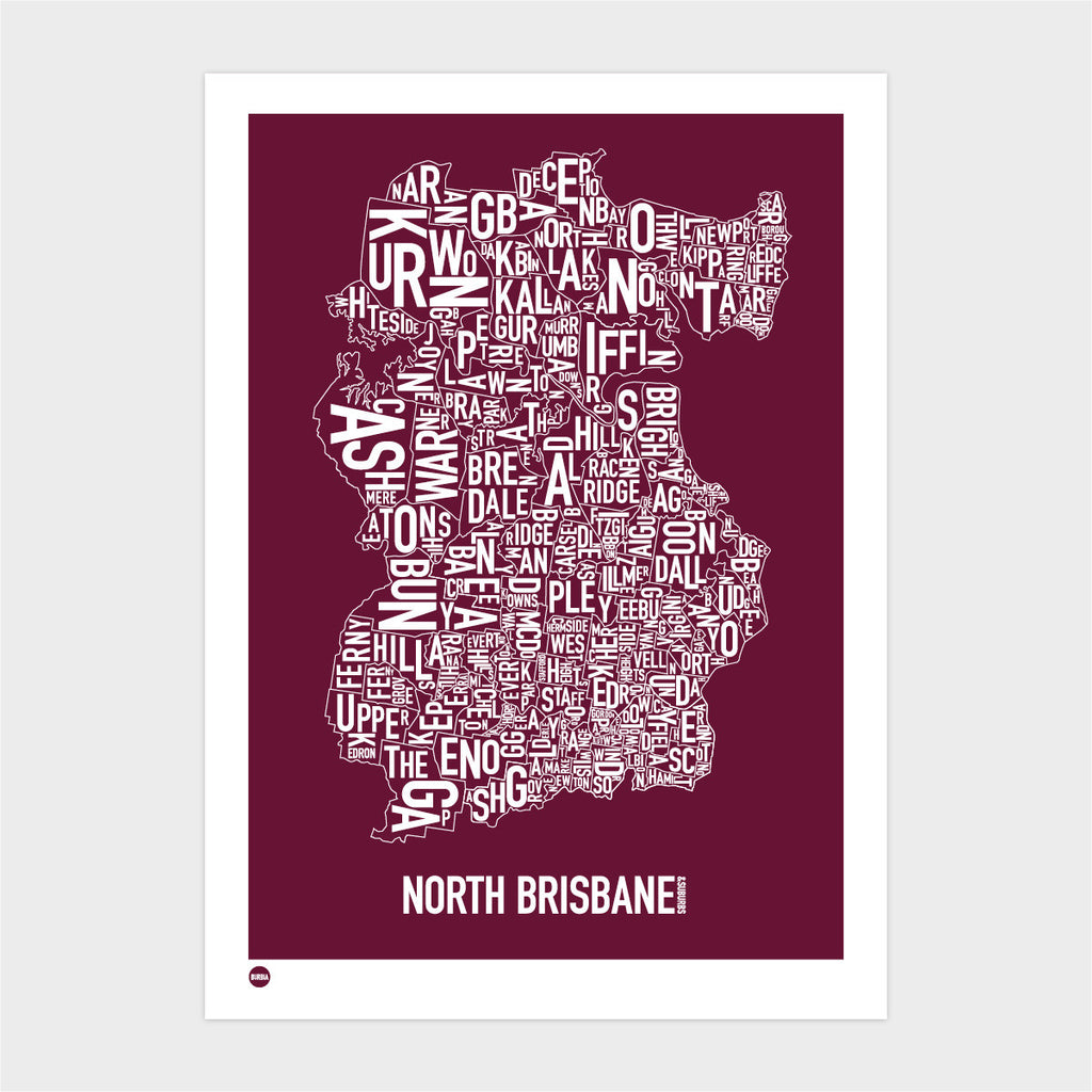 North Brisbane Type Map