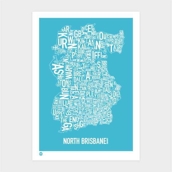 North Brisbane in Ocean Blue