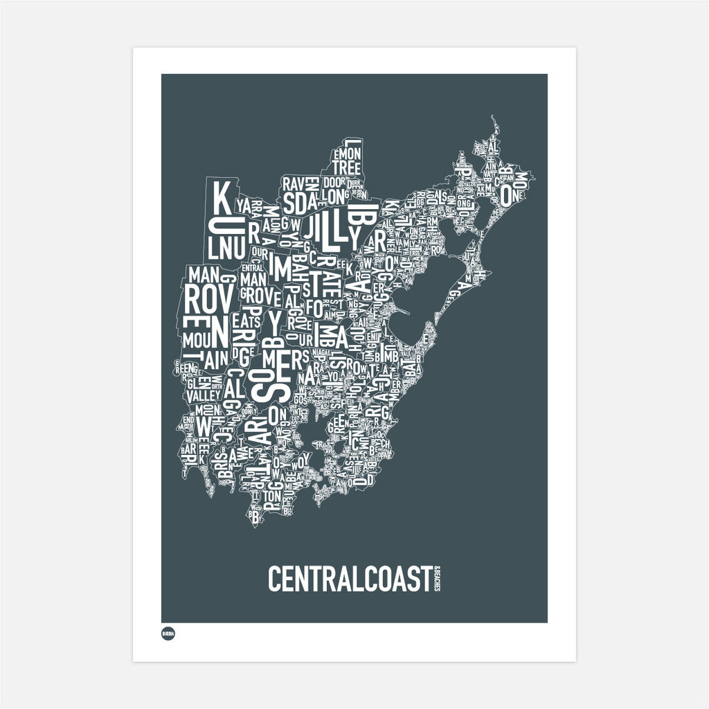 Central Coast Type Map