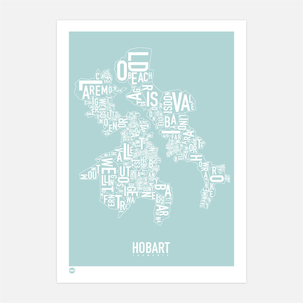 Burbia Hobart Type Map