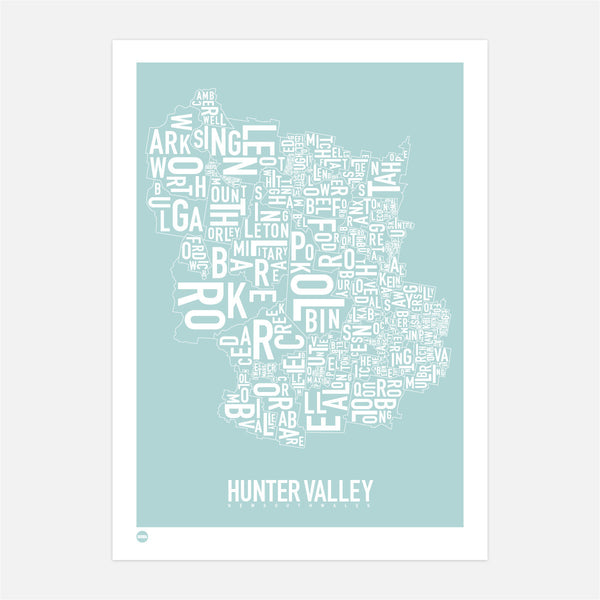 Burbia Hunter Valley Type Print