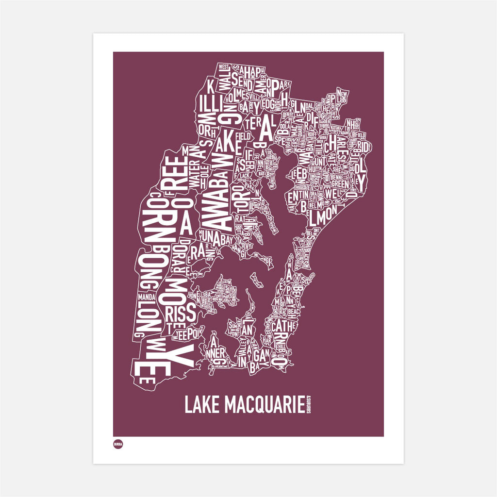 Lake Macquarie in Maroon