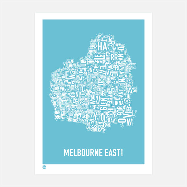 Melbourne East in Ocean Blue