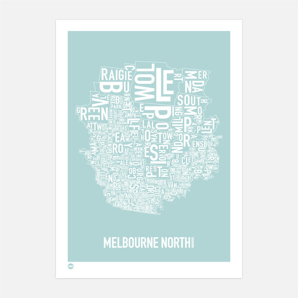 Burbia Melbourne North Type Map