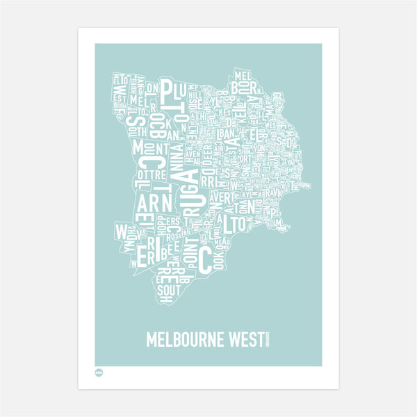 Burbia Melbourne West Type Map