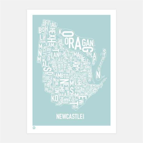 Burbia Newcastle Type Print