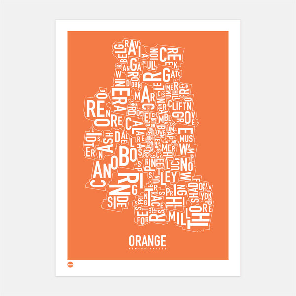 Orange Type Map