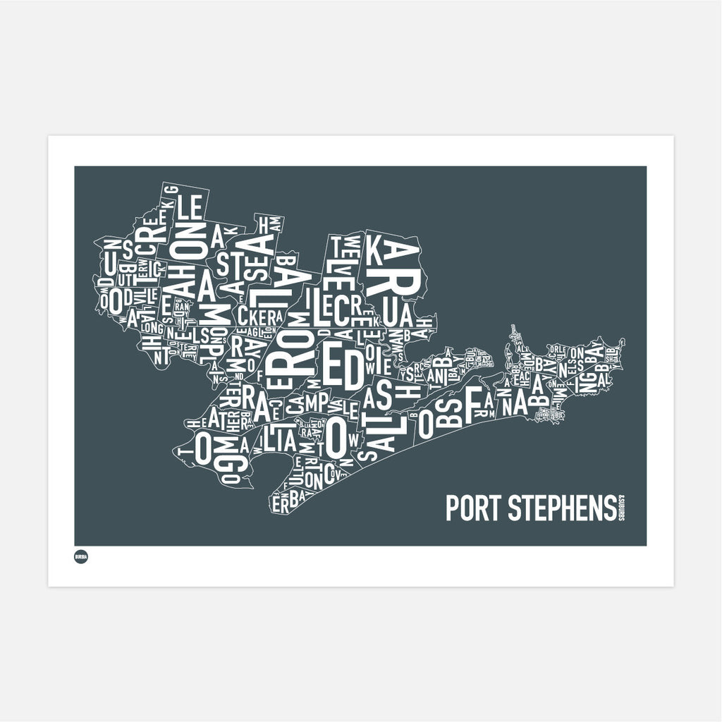 Burbia Port Stephens Type Print