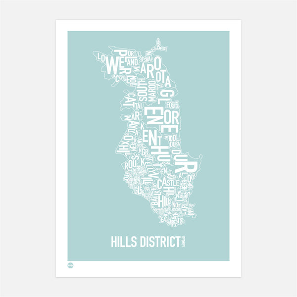 Burbia Hills District Type Print