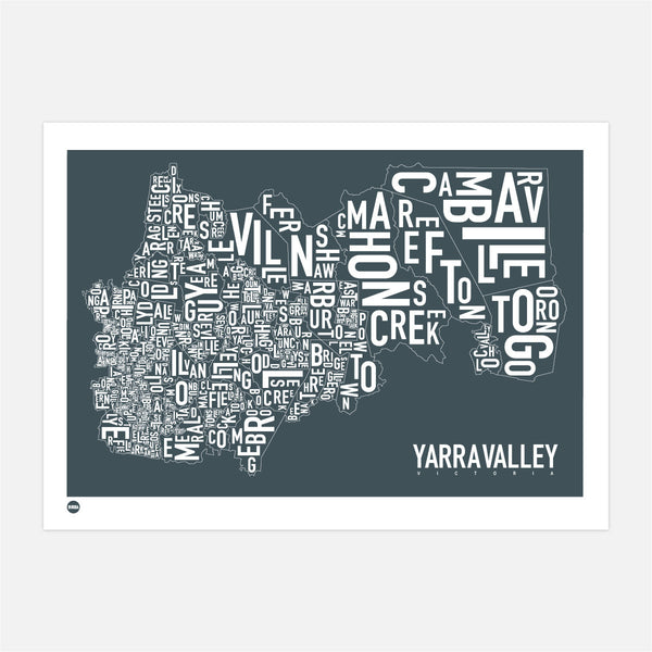 Burbia Yarra Valley Type Map