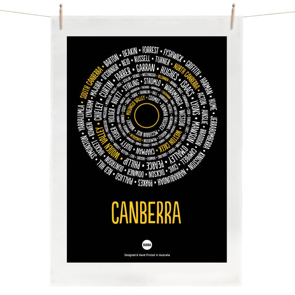 Canberra Districts Tea Towel