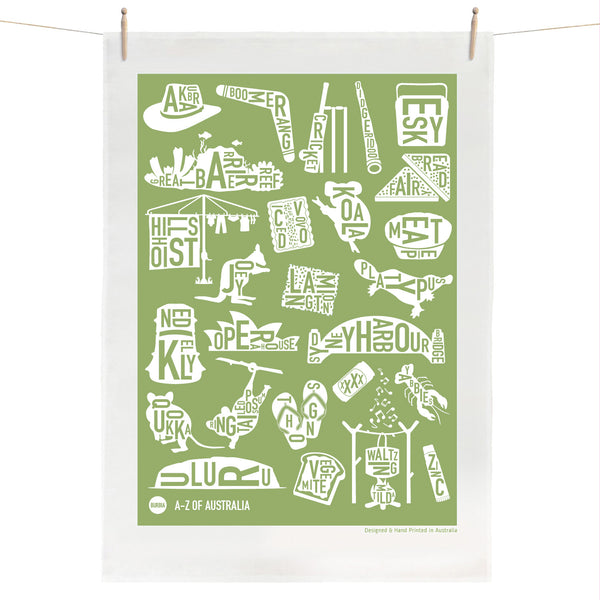 A-Z of Australia Tea Towel