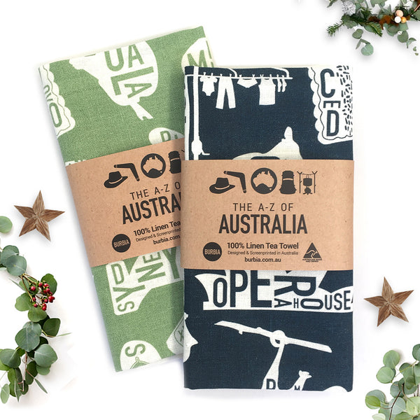 A-Z of Australia Tea Towel Gift Set
