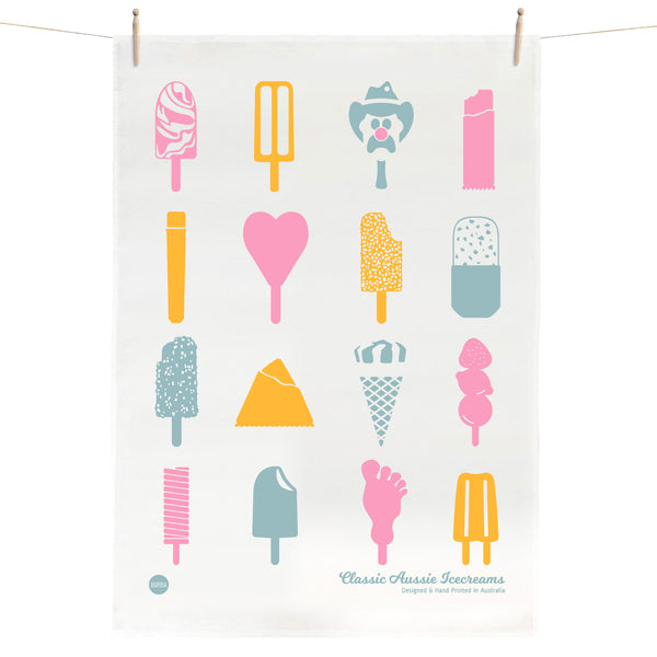 Classic Aussie Icecreams Tea Towel