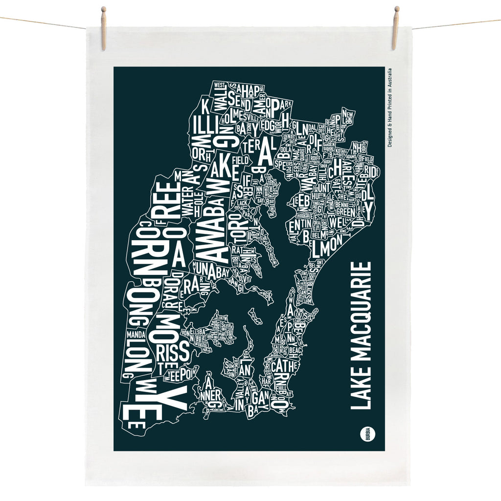 Lake Macquarie Tea Towel