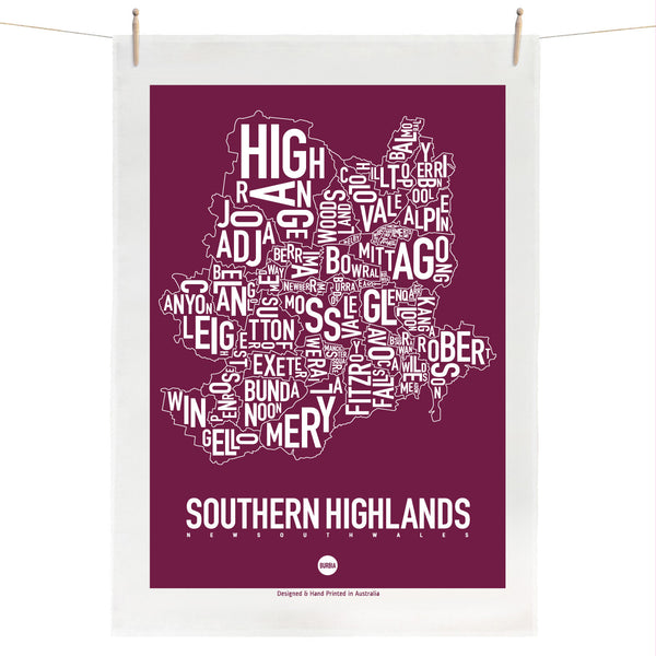 Southern Highlands Tea Towel